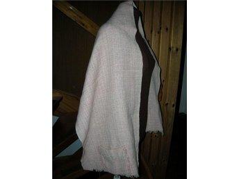 sjal med fickor handvävd  50/60-tal MAD MAN retro vintage