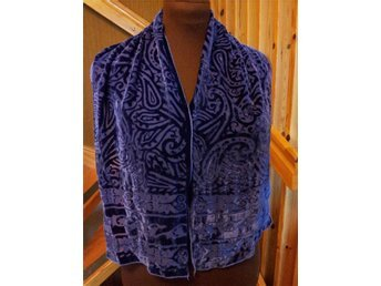 sjal scarf FEST lila Silk  retro