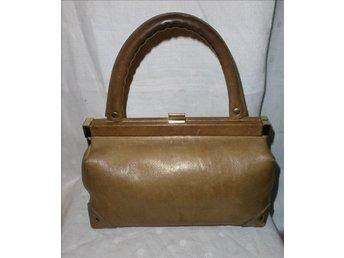väska i läder,liten läderväska,vintage,60-tal