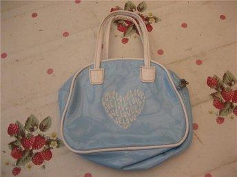 Handväska - Love Love Love! (Blå / Vit)