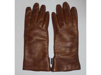 handskar, bruna läderhandskar, oanvända, st 6 1/2