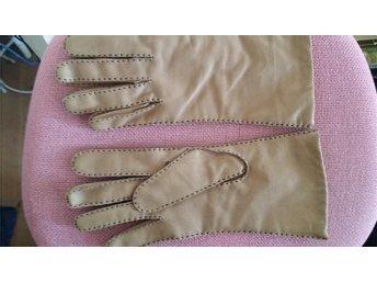 handskar beige   skinn  Nya