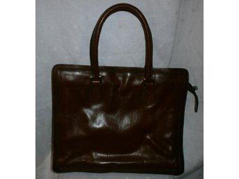 väska, äkta läder