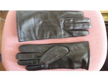 handskar svarta  skinn  Nya