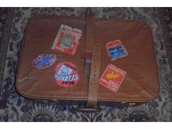resväska i läder, vintage 50-60-tal