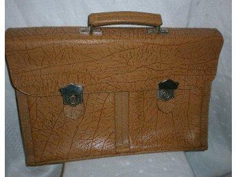 portfölj, läderportfölj,vintage,50-tal