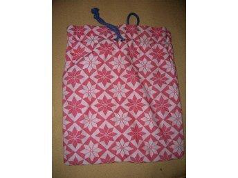 väska påse tygpåse  klassikt madrassmönster vintage