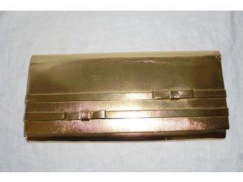 väska, guldfärgad aftonväska