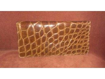 väska, krokodilmönstrad läderväska (ej äkta krokodil),kuvertväska, vintage, 60-t