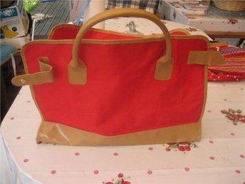 Handväska - Röd / Brun