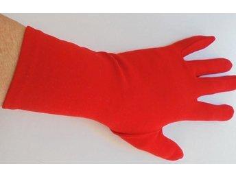 handskar, röda, vintage, 60-tal, st 7