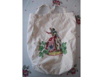 Väska i tyg - Kvinna i kjol