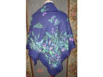 sjal, stor sjal med mönster, marco corsari, 80-tal vintage