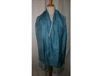 halsduk i blå siden,silke