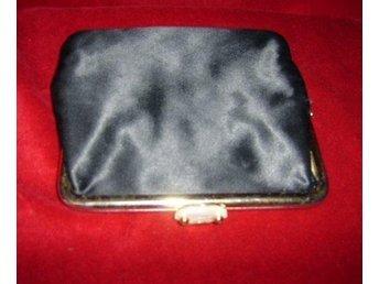 väska, liten svart aftonväska,vintage 50 tal
