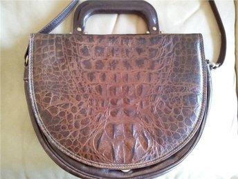 väska  axelväska handväska skinn  retro