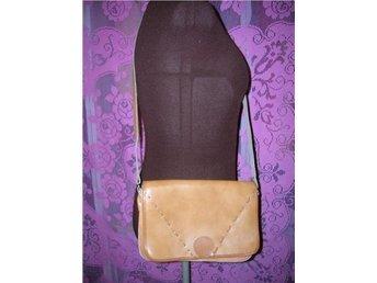 väska axelväska natur läder