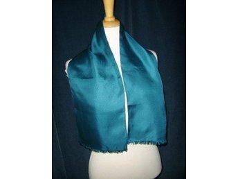 halsduk i blå silke,vintage