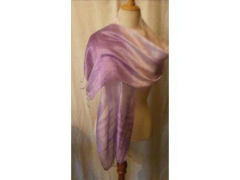 sjal i lila toner,siden,silke