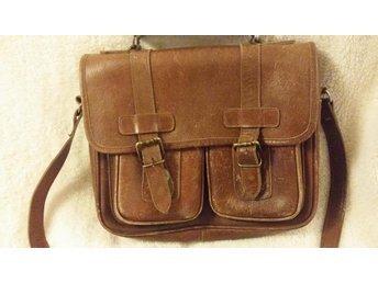 väska axelväska läder  retro