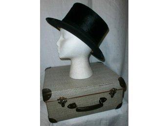 cylinderhatt, hög hatt, vintage, med originallåda