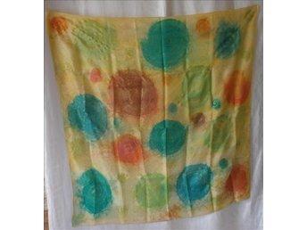 sjal i siden,mönstrad