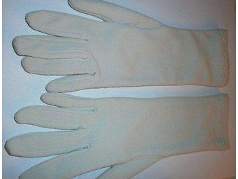 handskar, grå varmfodrade nylonhandskar,vintage, 60-tal, st 5