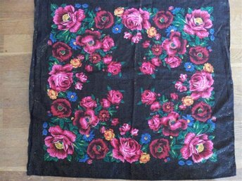 folkdräkt sjal  blomstersjal  folklore   retro