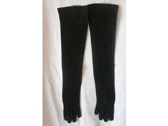 handskar, långa svarta handskar,vintage, 20-tal
