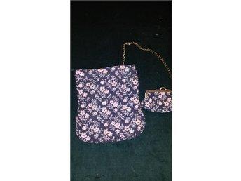 väska aftonväska / påse + portmonnä retro
