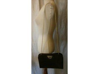 väska, brun läderväska,vintage,Italy