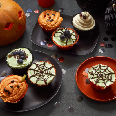 Pumpkin and Ginger Halloween Cupcakes