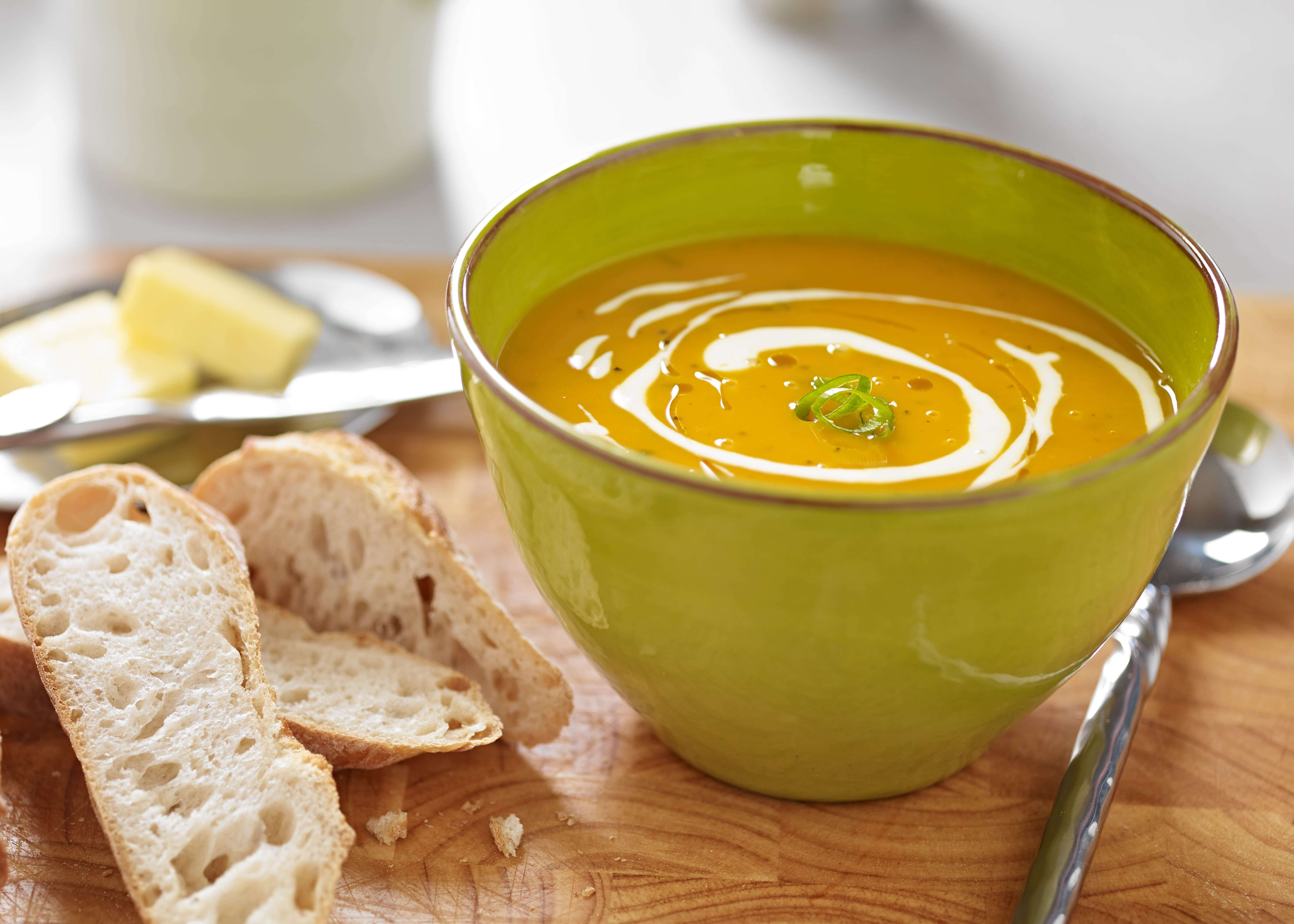 Roast Butternut Squash, Sage and Goat's Cheese Soup