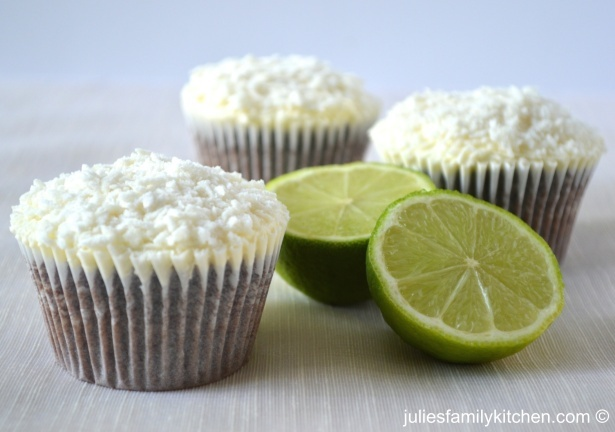 Chocolate Lime Cupcake with Coconut Lime Buttercream By Julie's Kitchen