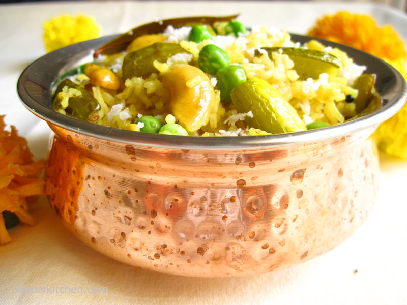 MasaleBhat – Spiced Rice from Maharashtra