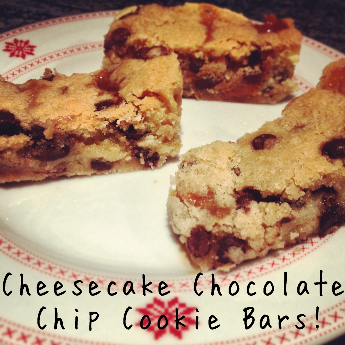 Cheesecake Chocolate Chip Cookie Bars!
