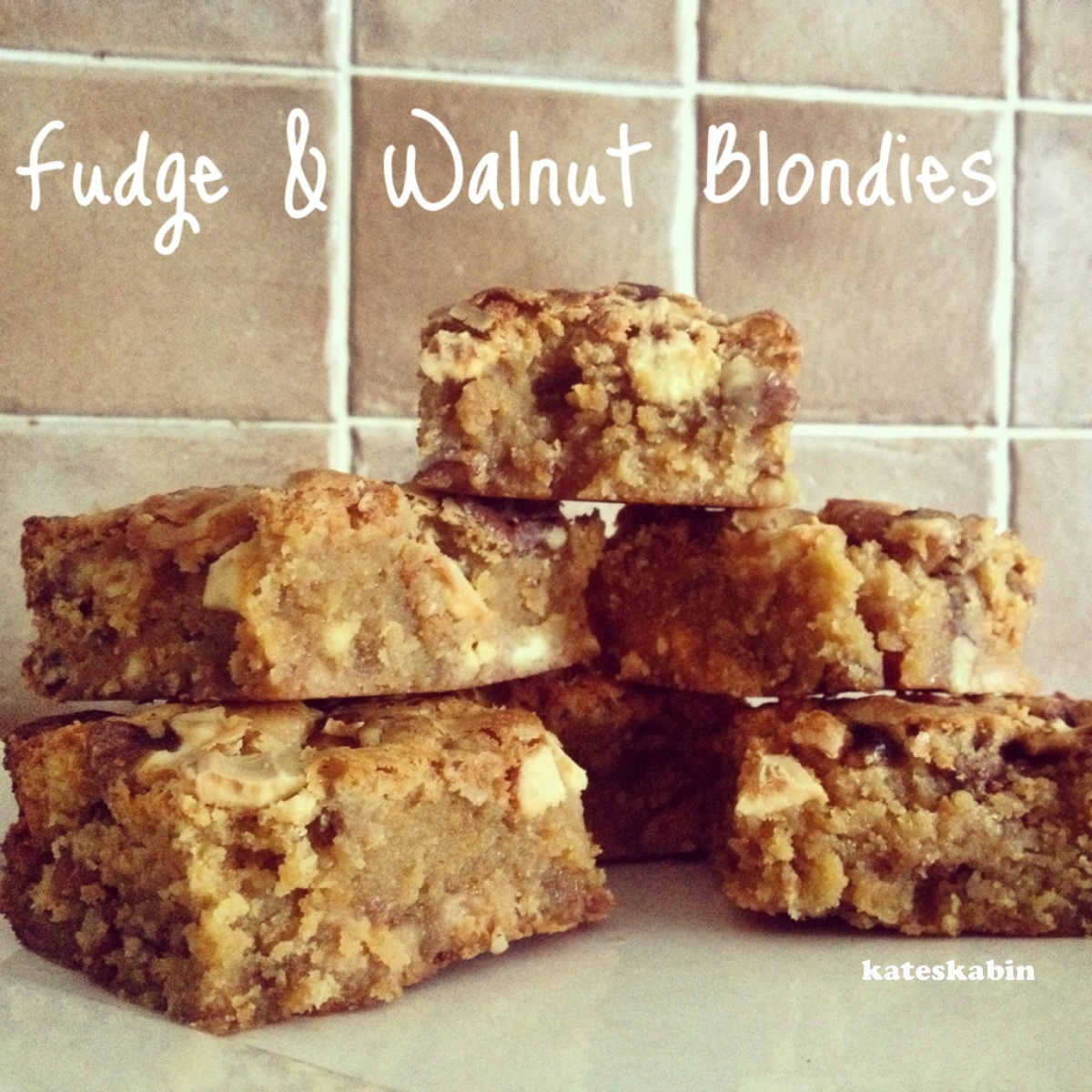 Fudge & Walnut Blondies