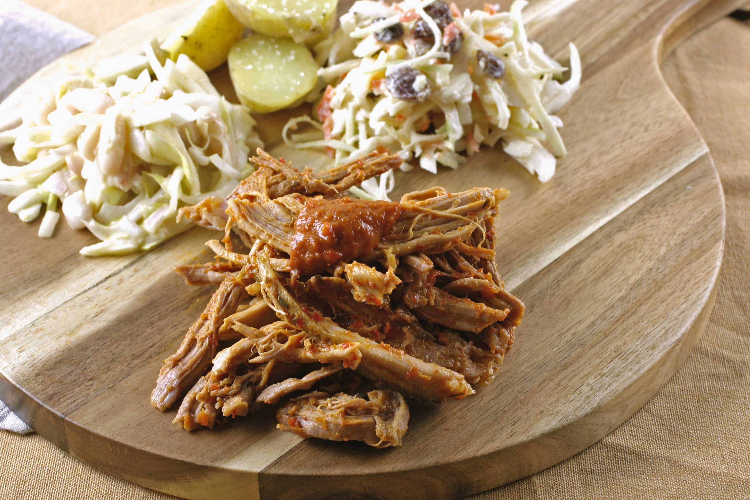 Pulled pork met koolsla