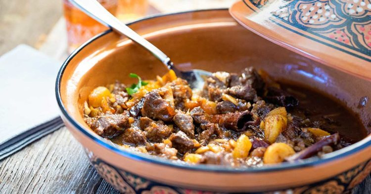 Lamb Tagine with Dates, Apricots and Honey