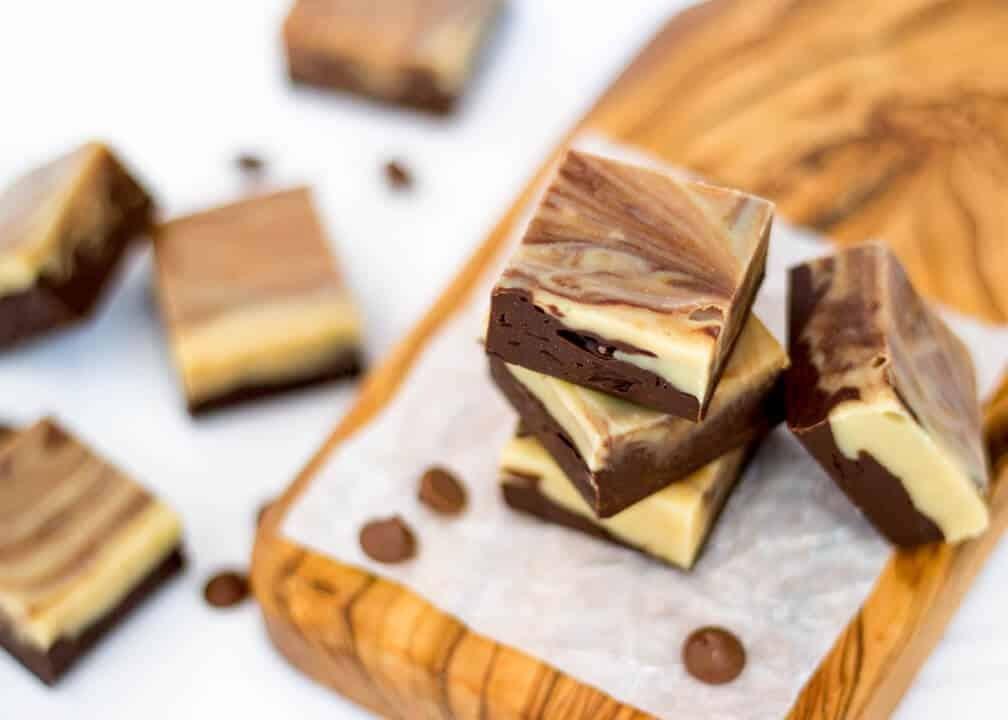 Peanut Butter & Chocolate Swirl Fudge