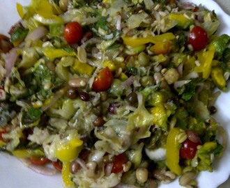 fragrant summer salad of sprouted mixed beans fragrant summer salad