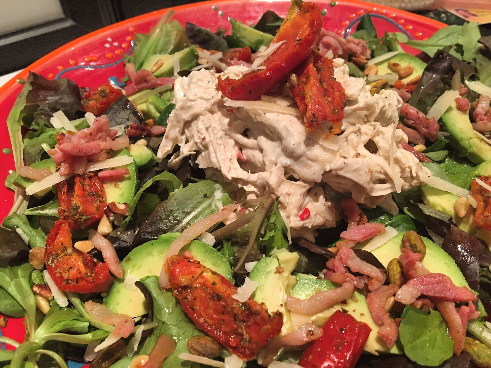 Pulled chicken salade