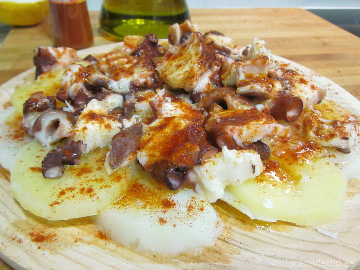 Pulpo a la gallega con Thermomix