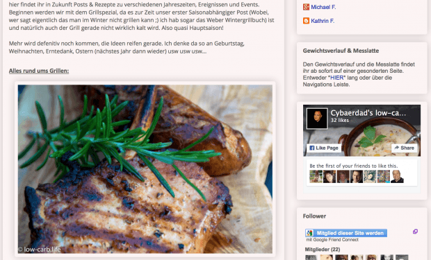 Low Carb Blog der Woche – Cybaerdad's low-carb.life