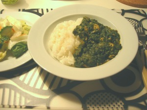 Indisk Spenat och Kyckling Curry (Saag Chicken)