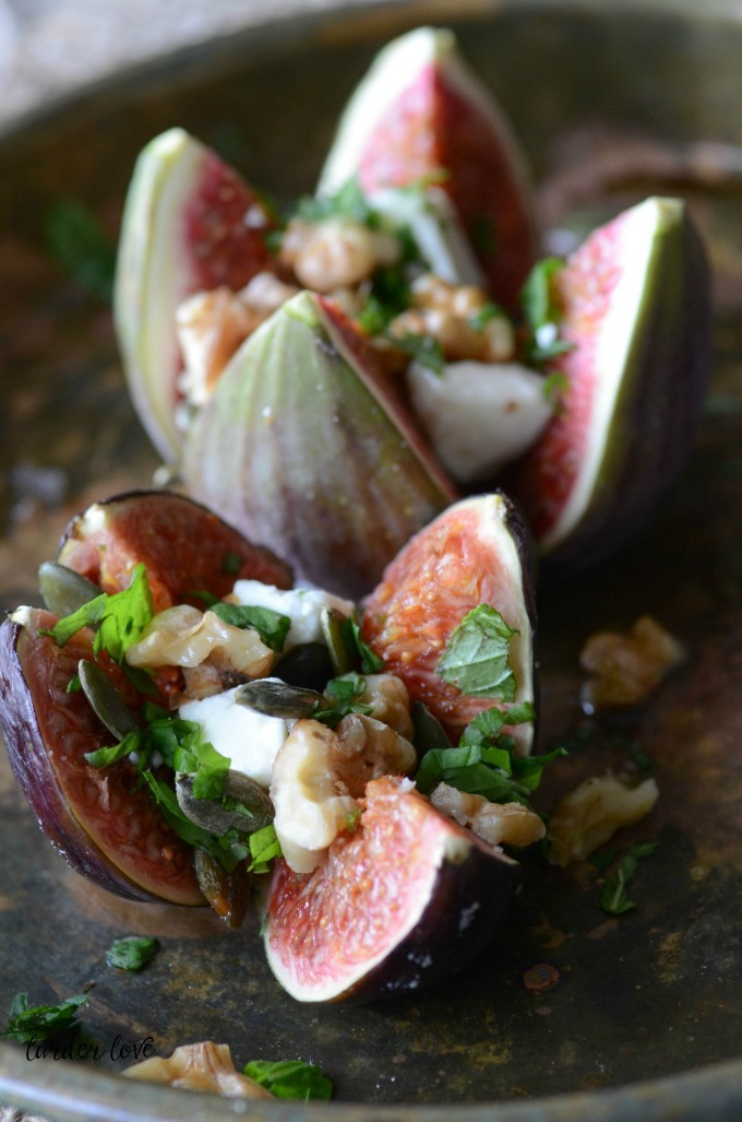 Figs With Feta Mint And Walnuts