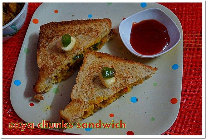 SOYA CHUNKS SANDWICH