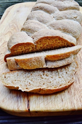 Five Strand Plaited Wholemeal Loaf
