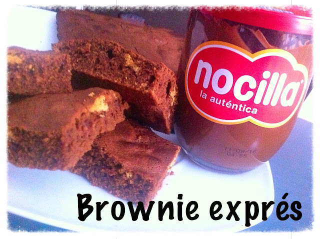 Brownie de Nocilla en 10 minutos