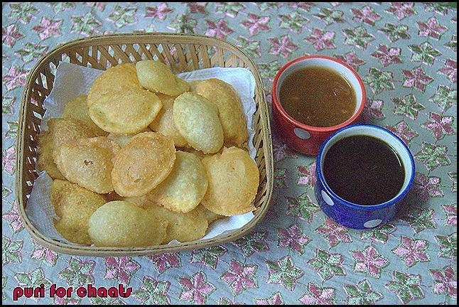 PURI FOR CHAATS/CHAAT RECIPES